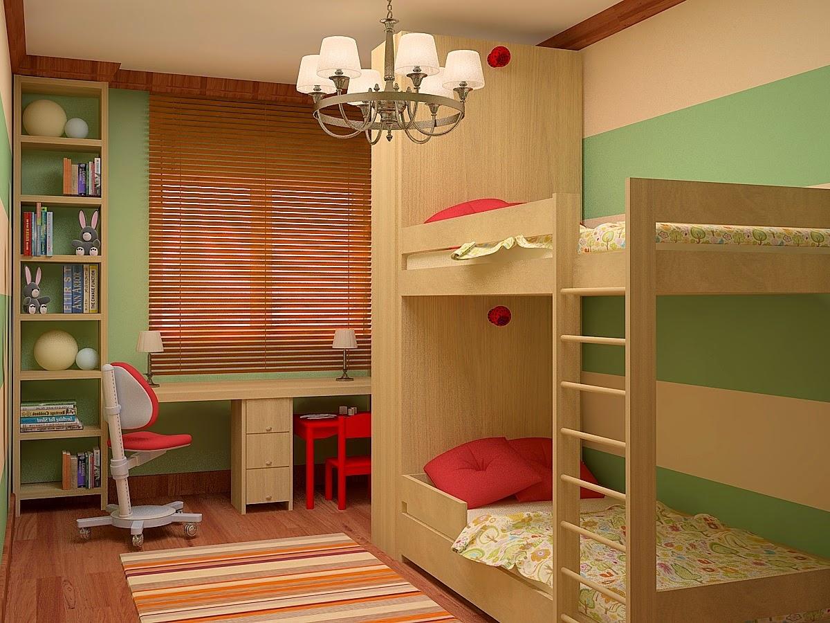 Дизайн детской комнаты 10 квм для двух детей