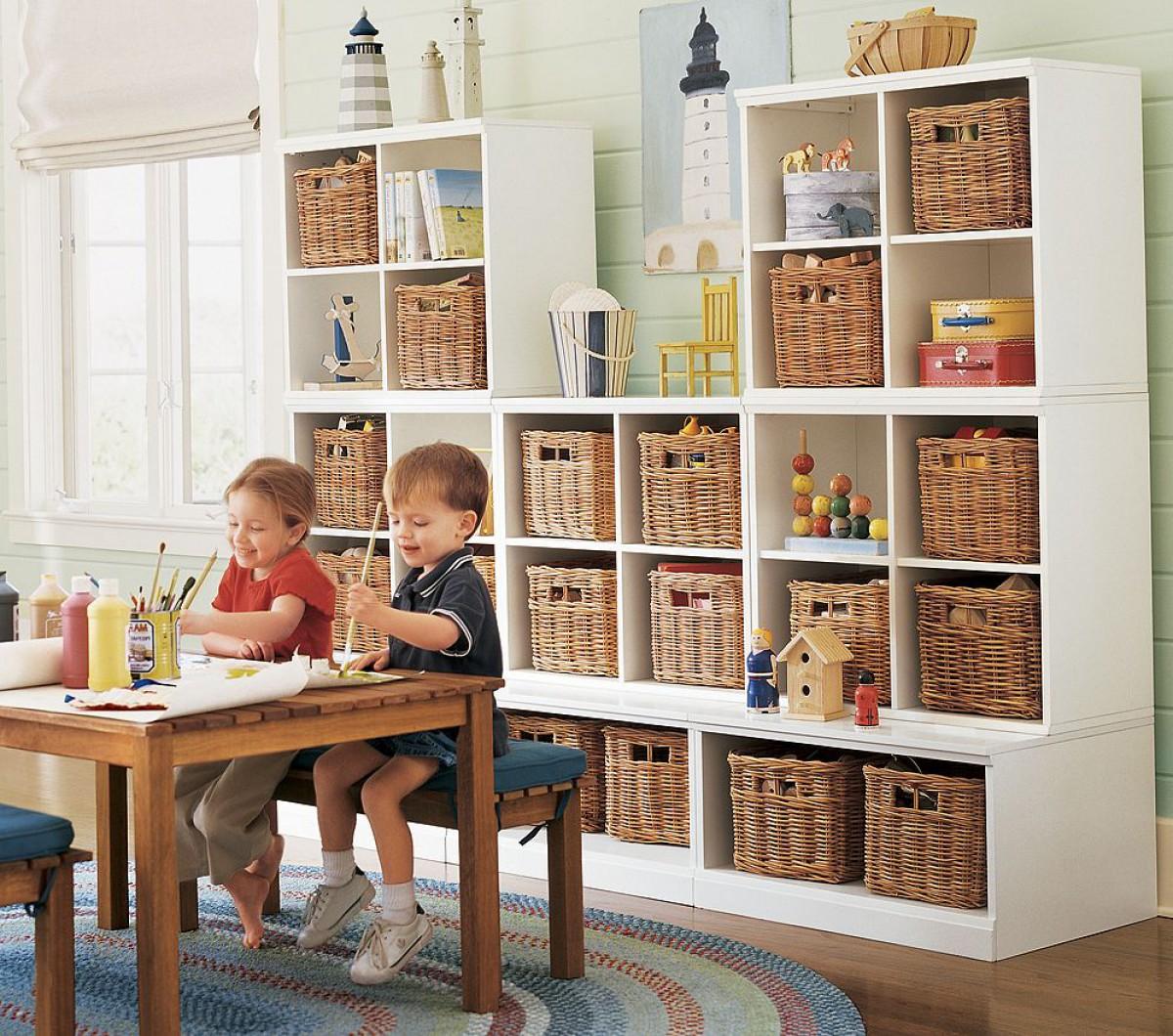 Система хранения вещей для детской своими руками 95