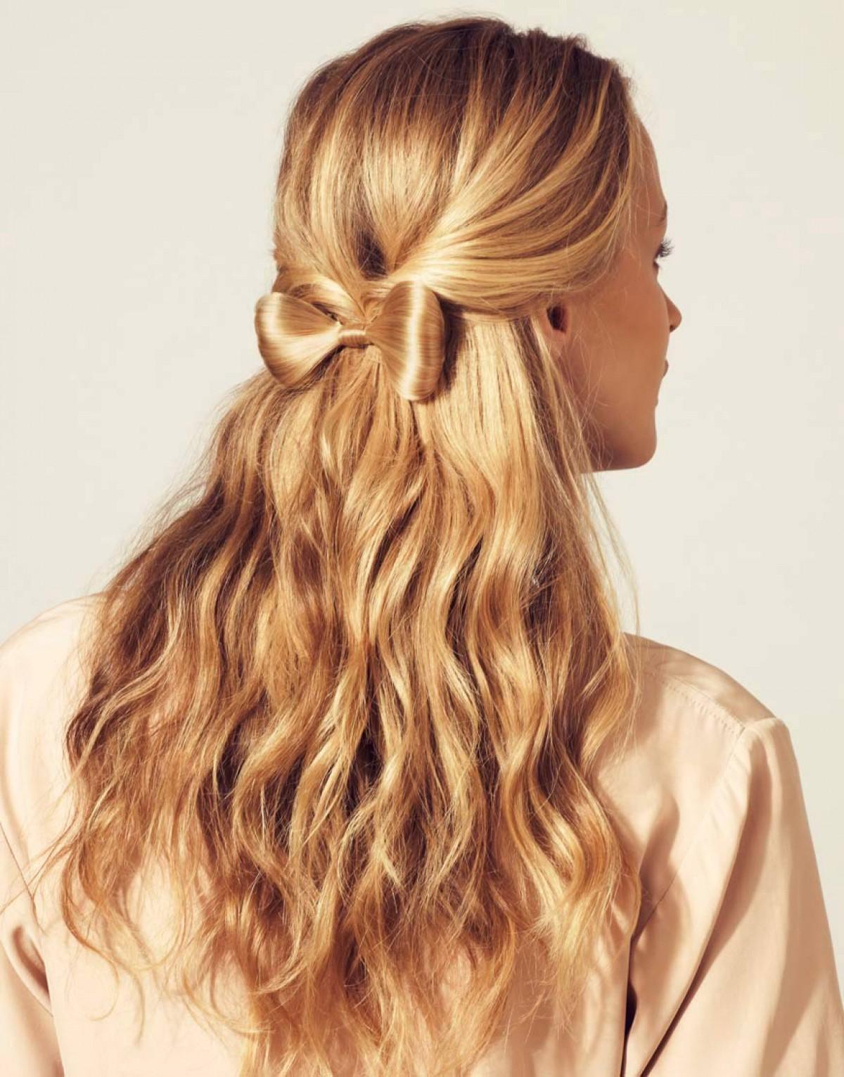 Прическа из волос распущенные для девочки