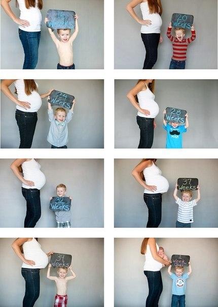 Идея для фото для беременных